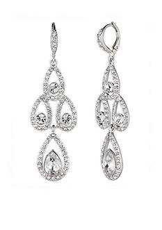 Givenchy Silver-Tone Crystal Chandelier Earrings
