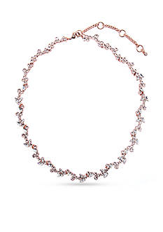 Givenchy Rose Gold-Tone Crystal Collar Necklace