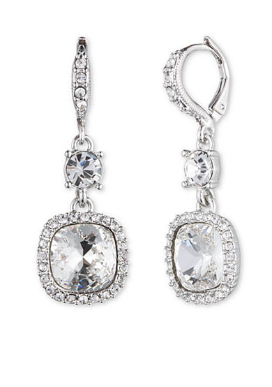 Givenchy Cushion Crystal Drop Earring