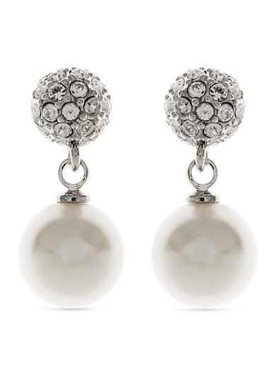 Givenchy Fireball Pearl Drop Earrings