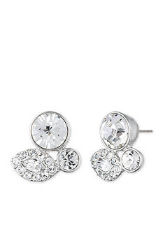 Givenchy Silver-Tone Cluster Stud Earrings