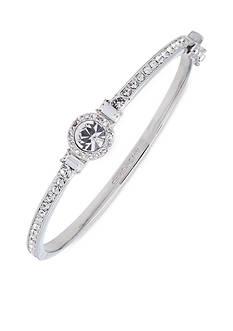 Givenchy Silver-Tone Crystal Bangle Bracelet
