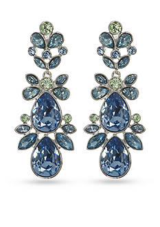 Givenchy Silver-Tone Blue Chandelier Earrings