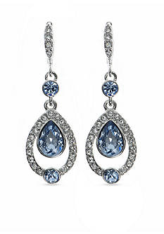 Givenchy Silver-Tone Blue Pear Drop Earrings