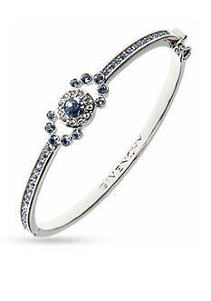 Givenchy Silver-Tone Blue Bangle Bracelet