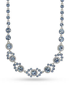 Givenchy Silver-Tone Blue Collar Necklace