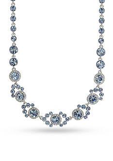 Givenchy Silver-Tone Blue Collar Necklace