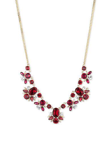Givenchy Gold-Tone Red Frontal Necklace