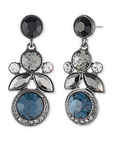 Givenchy Light Hematite Cluster Drop Earrings