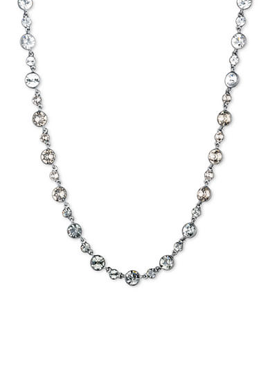 Givenchy Light Hematite Stone Collar Necklace