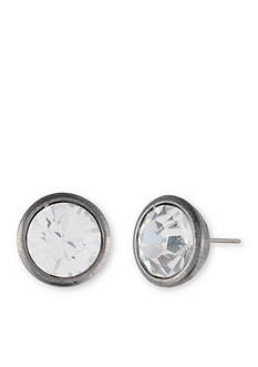 Givenchy Light Hematite Stone Stud Earrings