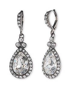 Givenchy Light Hematite Pear Drop Earrings