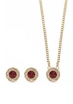 Givenchy Gold-Tone Necklace and Earring Set