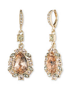 Givenchy Women's Gold Stone Stone Drop Earrings