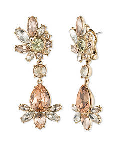 Givenchy Women's Gold Tone Large Stone Drop Earrings
