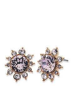 Givenchy Rose Gold-Tone Cluster Button Earrings