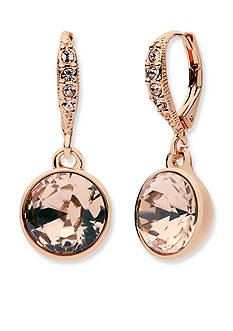 Givenchy Rose Gold-Tone Stone Drop Earrings