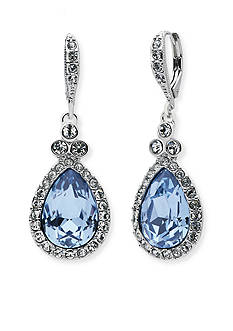 Givenchy Silver-Tone Stone Drop Earrings