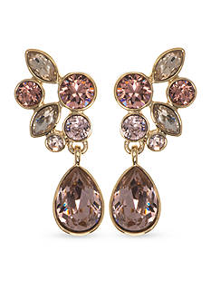 Givenchy Gold Tone Cluster Drop Earrings