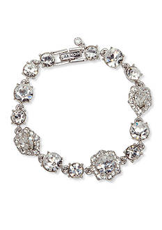 Givenchy Silver Tone Crystal Tennis Bracelet