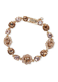Givenchy Gold-Tone Crystal Tennis Bracelet