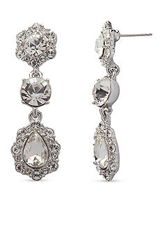 Givenchy Silver-Tone Triple Drop Earrings