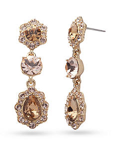 Givenchy Gold-Tone Triple Drop Earrings