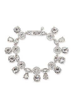 Givenchy Silver-Tone Crystal Tennis Bracelet