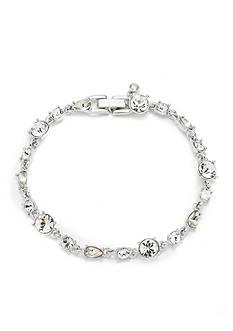 Givenchy Silver Tone Stone Flex Bracelet