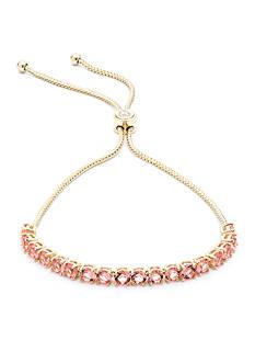 Givenchy Gold Tone Stone Slider Bracelet