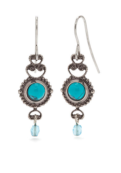 Silver Forest® Turquoise Filigree Drop Earrings