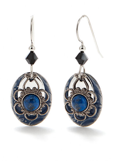 Silver Forest® Denim Lapis Drop Earrings