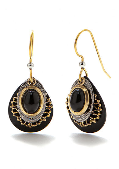 Silver Forest® Layered Onyx Earrings