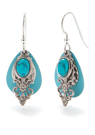 Silver Forest® Turquoise Stone Earrings