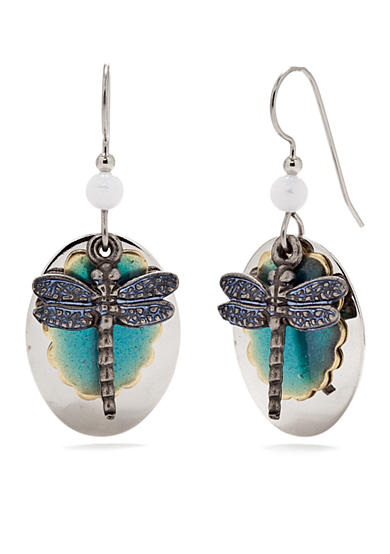 Silver Forest® Dragonfly Layered Drop Earrings