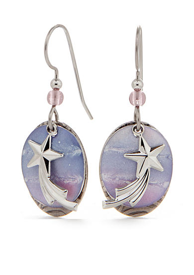 Silver Forest® Shooting Star Drop Earrings