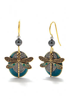 Silver Forest® Dragonfly Drop Earrings