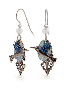 Silver Forest® Hummingbird Drop Earrings