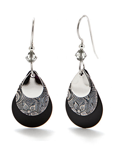 Silver Forest® Layered Drop Earrings