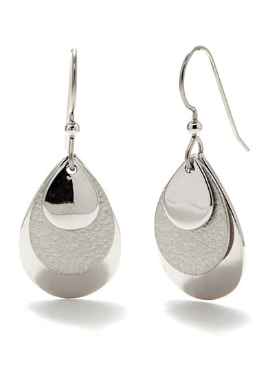 Silver Forest® Layered Teardrop Earrings