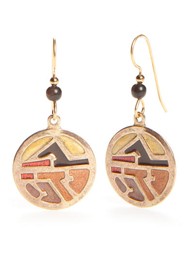 Silver Forest® Gold-Tone Our Tucson Tale Desert Abstract Drop Earrings