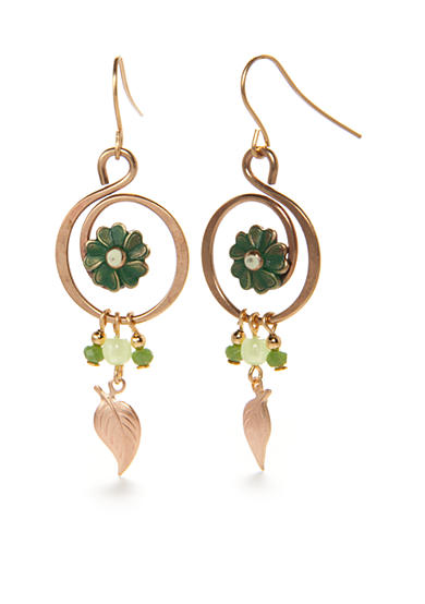 Silver Forest® Gold-Tone Lucky Clover Drop Earrings