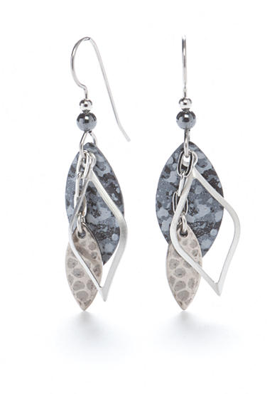 Silver Forest® Silver-Tone The Grace of Gray Drop Earrings