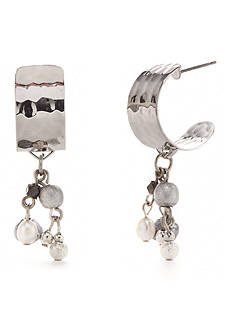 Silver Forest® Silver-Tone The Grace of Gray Curl Hoop Earring