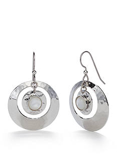 Silver Forest® Silver-Tone Skyscape Ring Drop Earrings