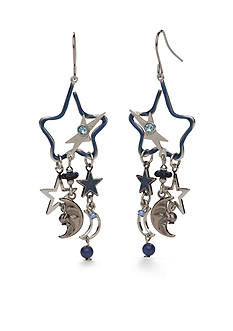 Silver Forest Silver-Tone Skyscape Star Chandelier Earrings