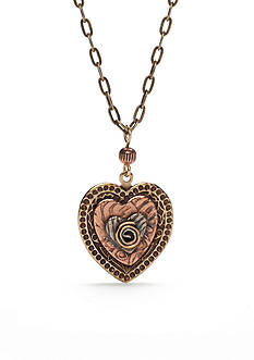 Silver Forest® Gold-Tone Will You Be Mine Artisan Heart Pendant Necklace