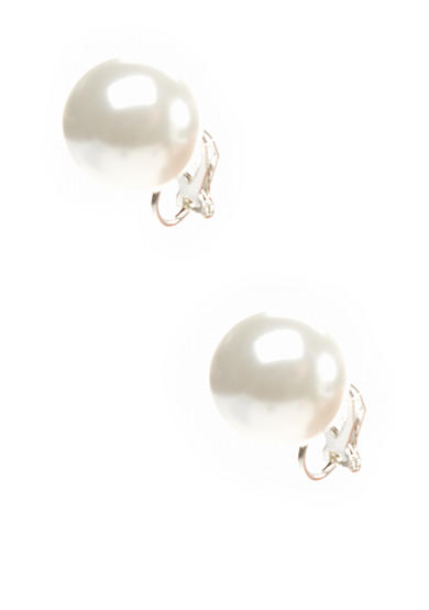 Lauren Ralph Lauren Pearl Stud Clip Earrings