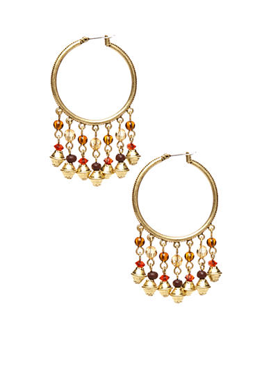 Lauren Ralph Lauren Multi Bead Drop Hoop Earrings