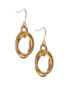 Lauren Ralph Lauren Gold-Tone Link Drop Earrings